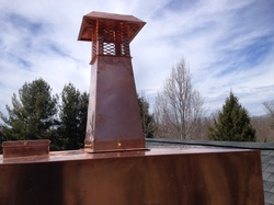 copper chase cover and extend height rain cap