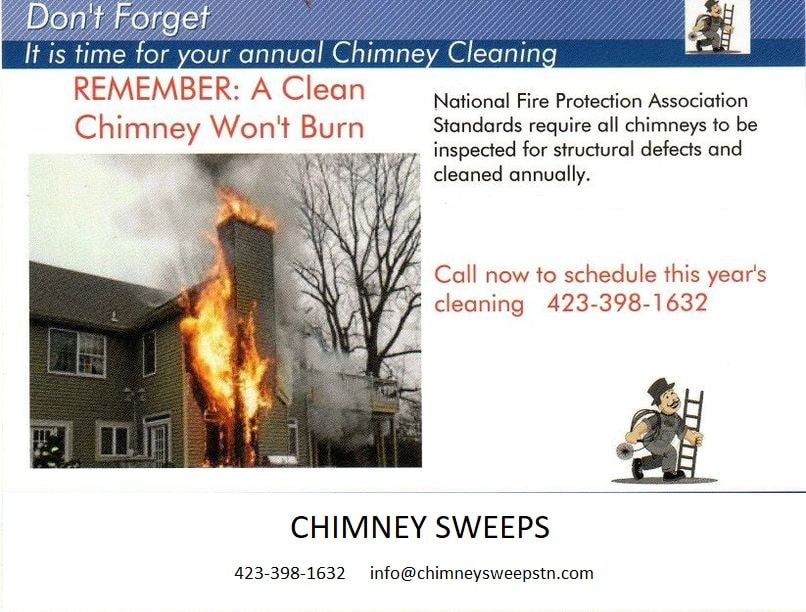 CHimney should be cleaned once per year